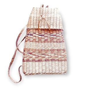 DECORATIVE Woven Straw Backpack
